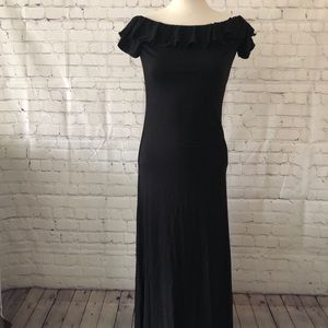 ASOS Petite Black Maxi Dress Size 6
